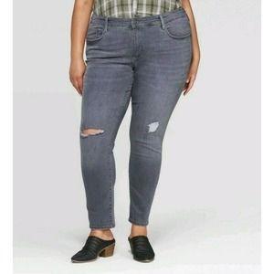 Universal Thread Mid-Rise Distressed Skinny Jeans